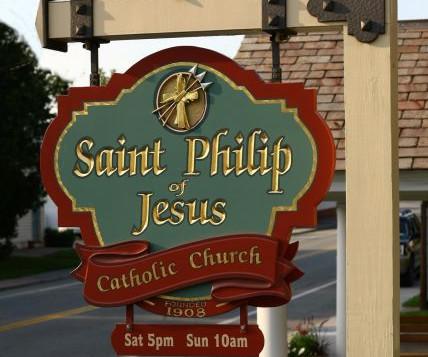 Saint Philip of Jesus Church Sign