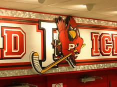 Plattsburgh State Cardinal Hockey Sign