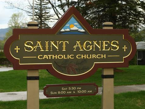 Saint Agnes Church Sign