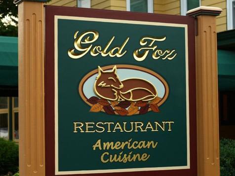 Gold Fox Restaurant Sign