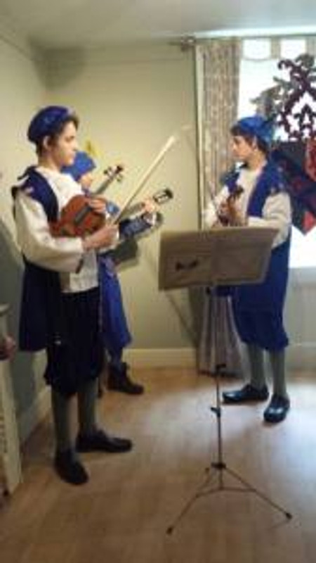 The talented MInstrels played for us while the family were doing last minute preparations for the garden party