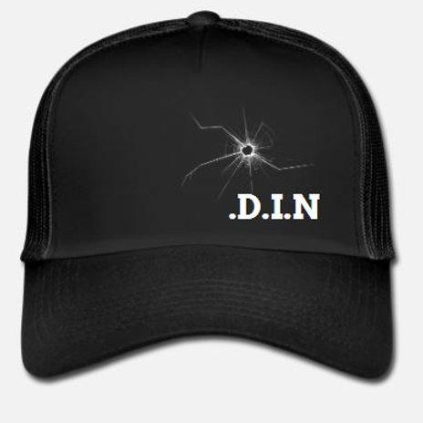 D.I.N Black Trucker Cap