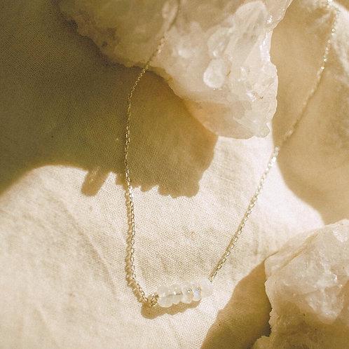 moonstone bead necklace