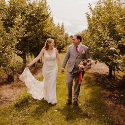 Beautiful walk through the Orchard