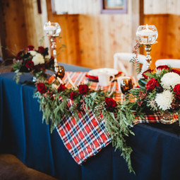 Beautiful winter wedding head table