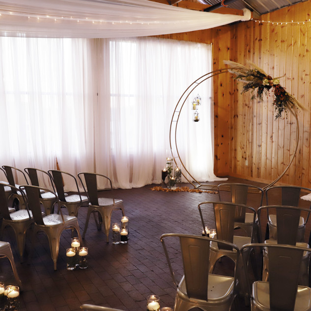 Indoor Ceremony with Draping