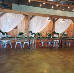 Beautifully decorated headtable