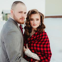 Gorgeous wedding couple