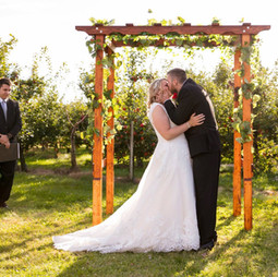 This ceremony in the orchard had us melting