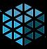 Black and Blue Hexagon