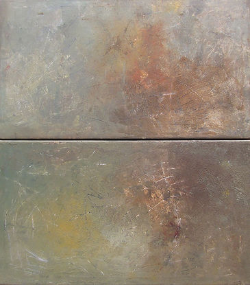 """Atmospheres"" - diptych - Acrylic paint and grout"