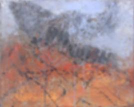 """Flight"" - Acrylic paint, paper and cardboard  16""x20""x5/8"""
