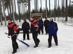 ice fishing in Ragunda