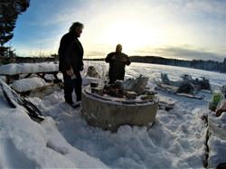 Snowmobile safari outdoor cooking9