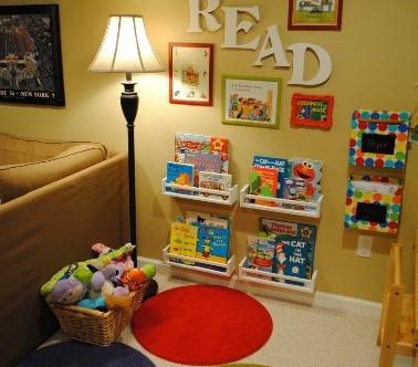 Making  a book corner at home