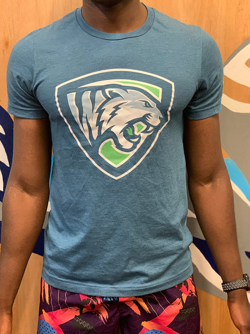 Tiger Pit Tee in Heather Teal