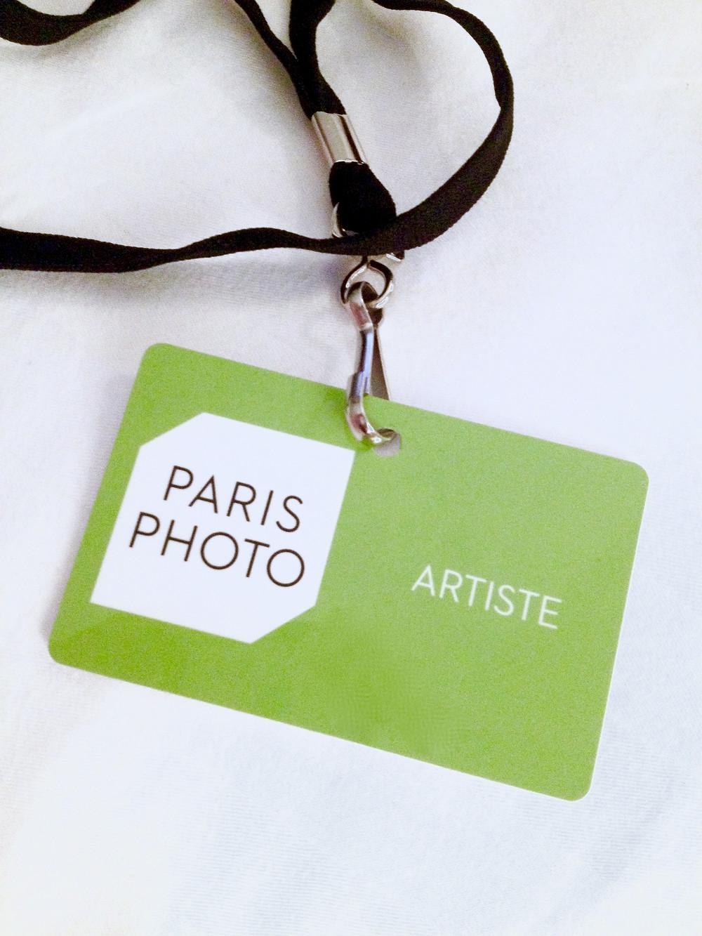 Paris Photo/ Entrance Card: Artiste