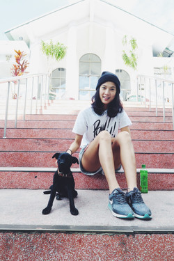 Elain and the dog