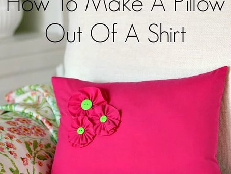 How To Make A Pillow Out Of A Shirt …   Hello everyone, Today, I'm going to share cute pillow idea.