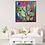 Thumbnail: Cactus  Love 2, cacti Acrylic painting, original abstract , colourful home
