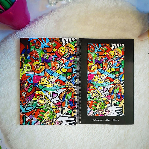 Musical Abstract Personal Note Book