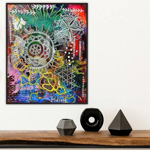 Rainbow 🌈 At Midnight Alcohol Ink Art