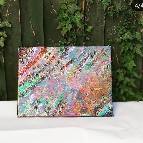 """Kindness ""Resin Art and Acrylic Pour Original"