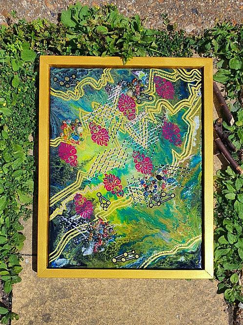 """Jungle Stories"" Resin Art"