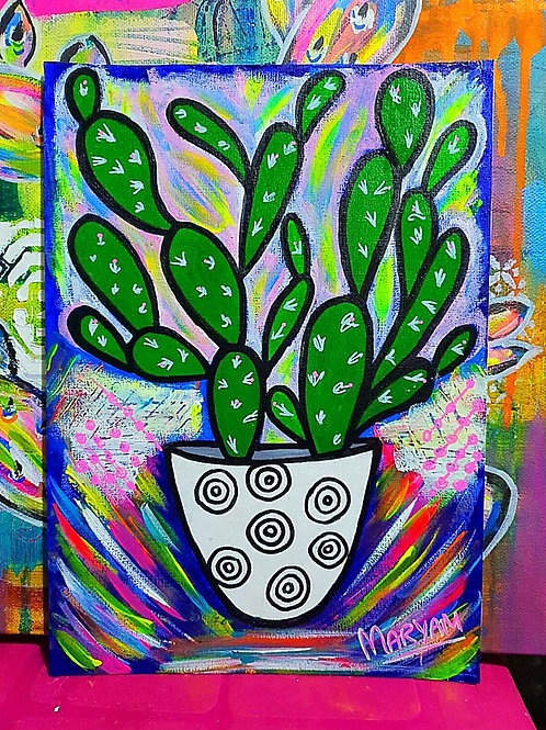Cactus Love 4 ... Acrylic Paint On Canvas