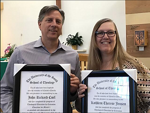 St. Stephen's EFM Grads John Curl and Kathleen Jenson graduated after four years of ministry study! Congratulations on a job well done!