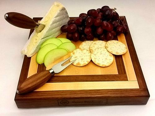 Maple & Walnut Cheese Board Set