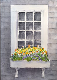 Nantucket Daffodil Festival watercolor Yvonne haus