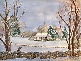 Tea Lane Farm watercolor Yvonne Haus
