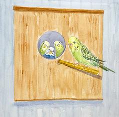 Watercolor Yvonne haus