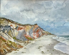 watercolor of Aquinnah Cliffs Yvonne Haus