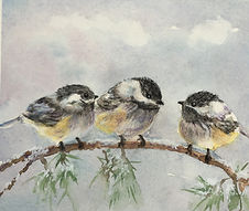 three birds watercolor