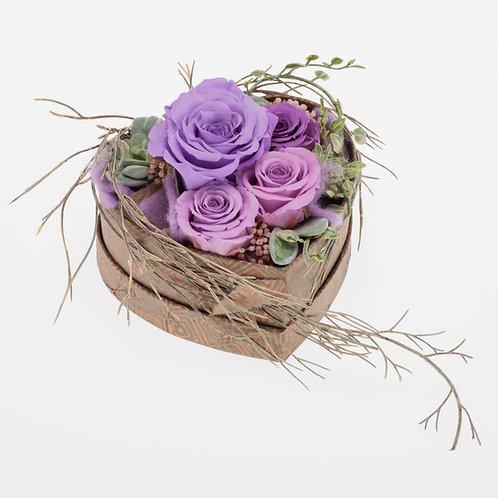 Flowerbox Herzform Lavendel Medium