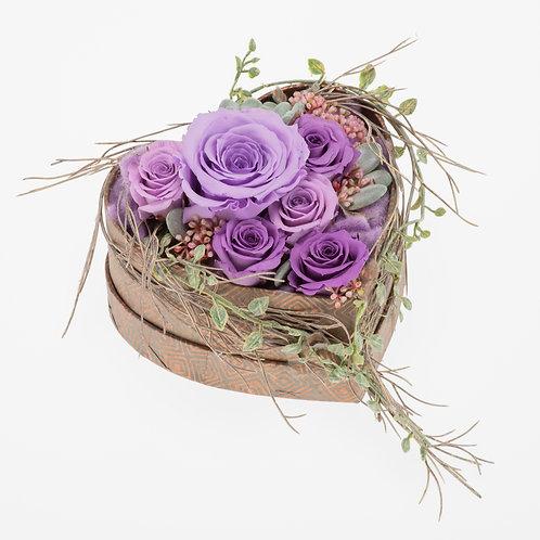 Flowerbox Herzform Lavendel Large