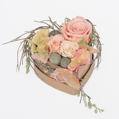 "Flowerbox Herzform Medium ""SWEET LOVE"""