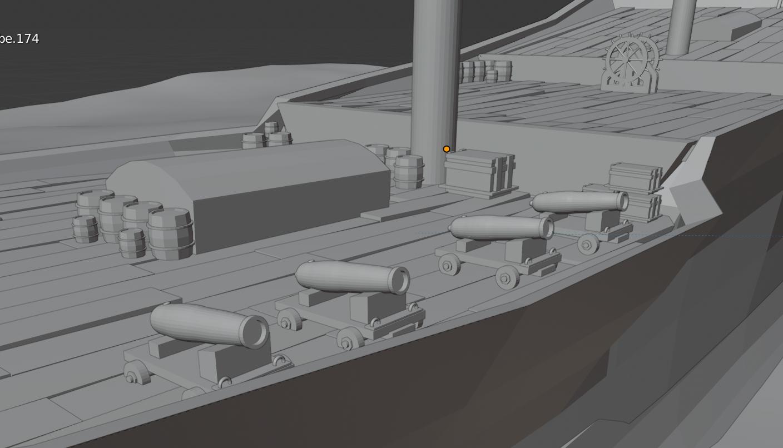 Main Deck detail population