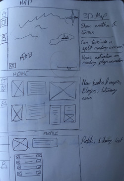 First Draft Wireframes