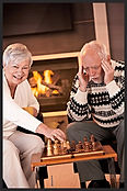 Senior Citizens Playing Chess