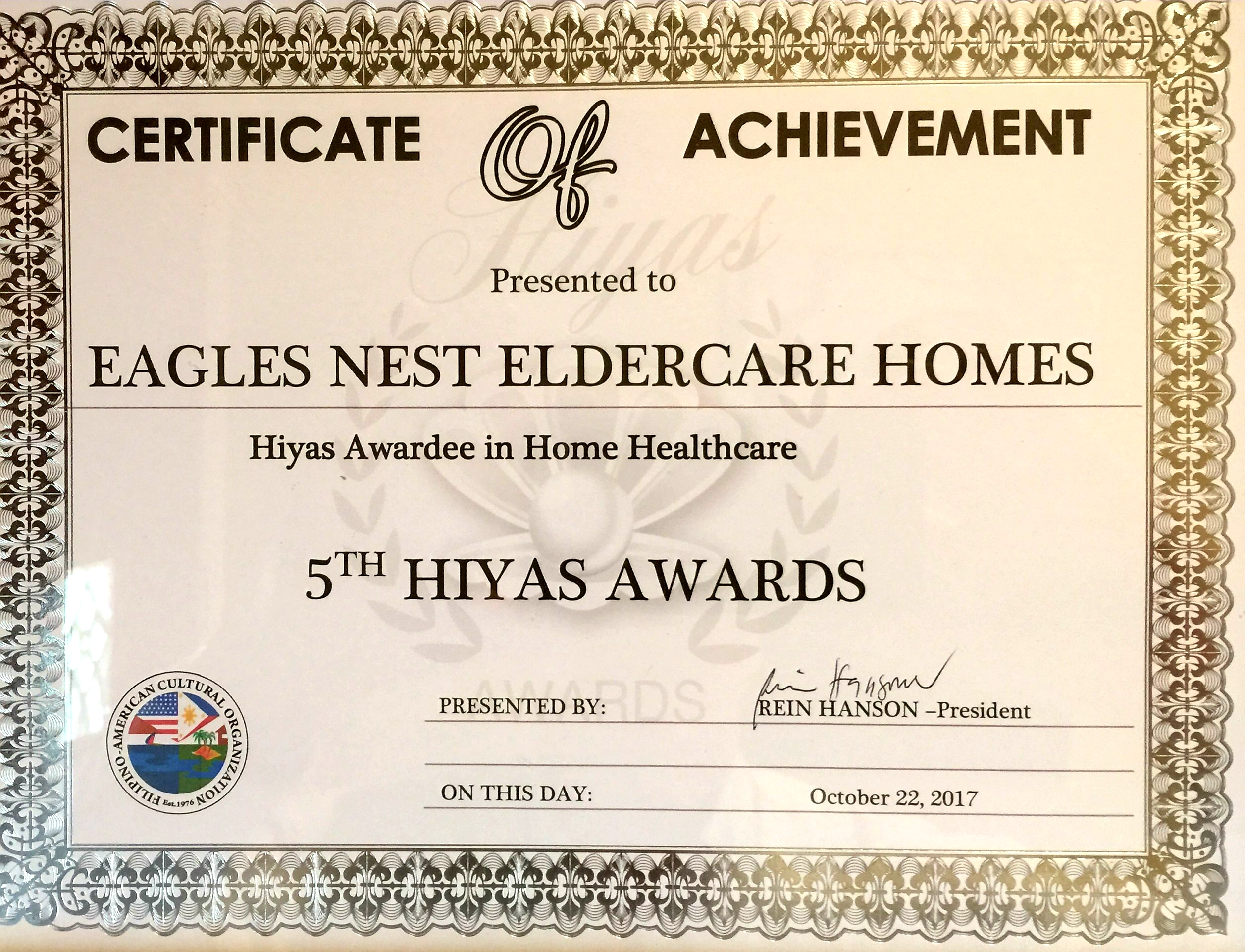 Home Healthcare Achievement Award