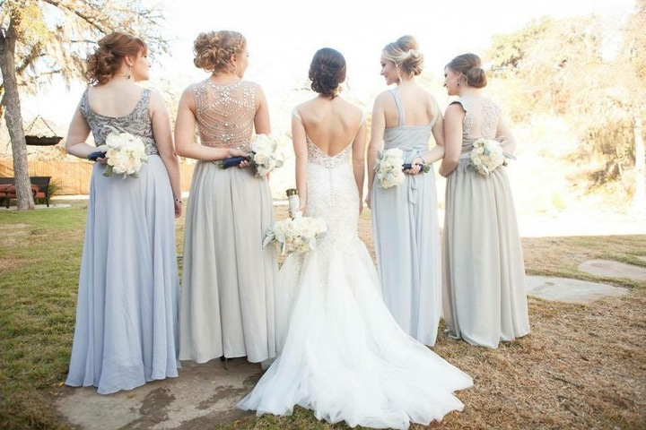 Group Bridal Party Hair Updo