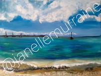 John Brewer's Beach, 12x16 acrylic on canvas