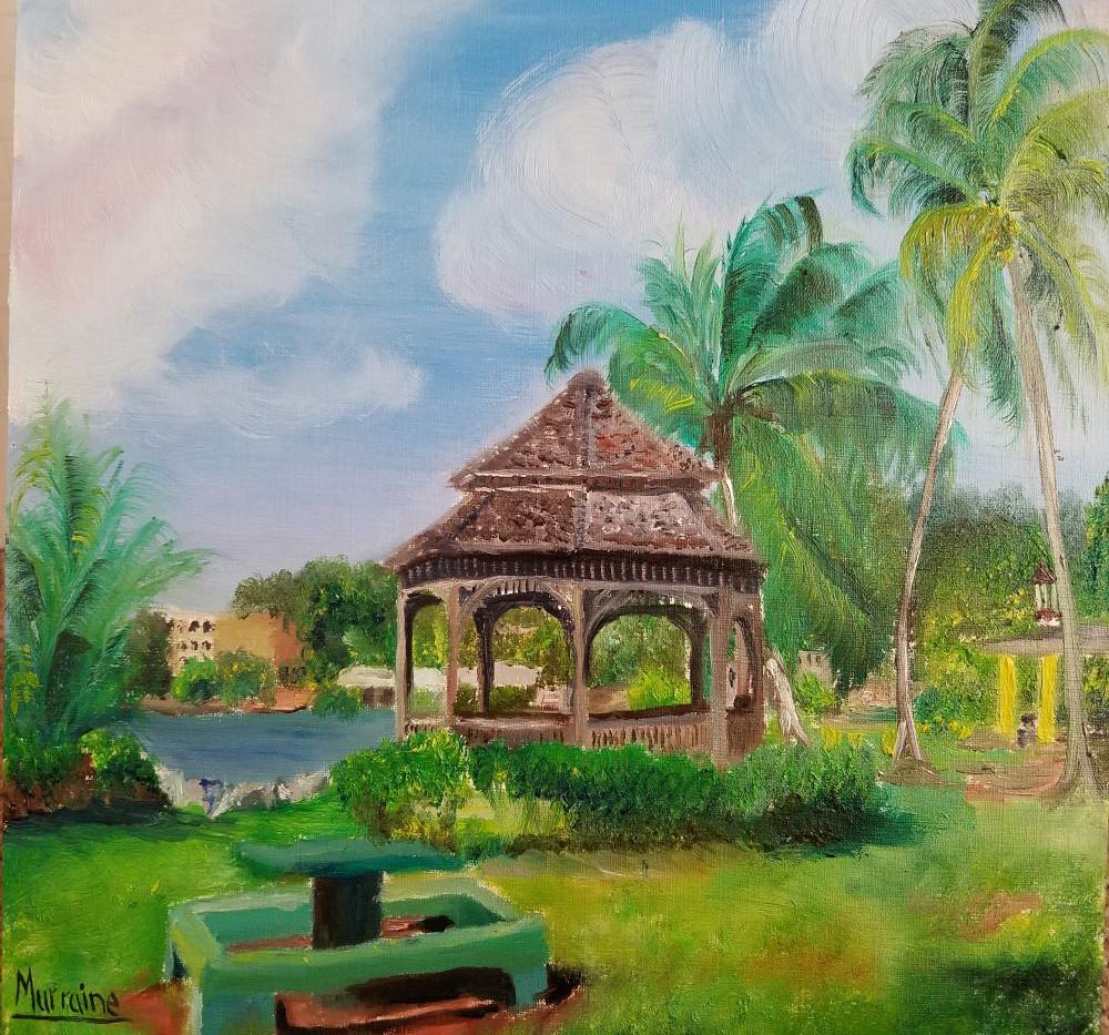 Virgin Islands Park 11x14 Oil Painting