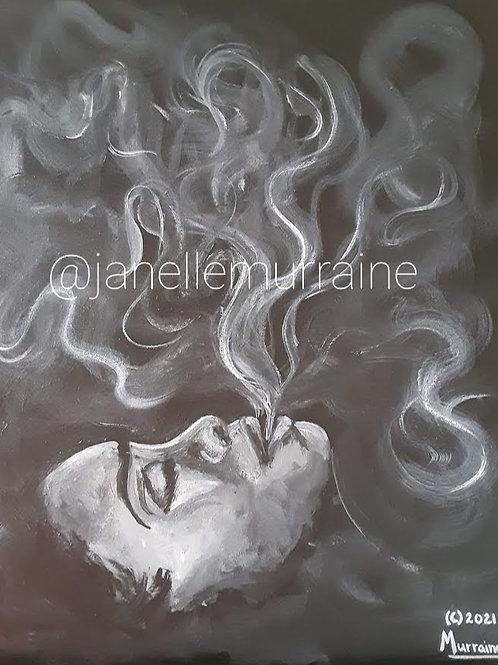 Issa Vibe, 16x20 acrylic on canvas