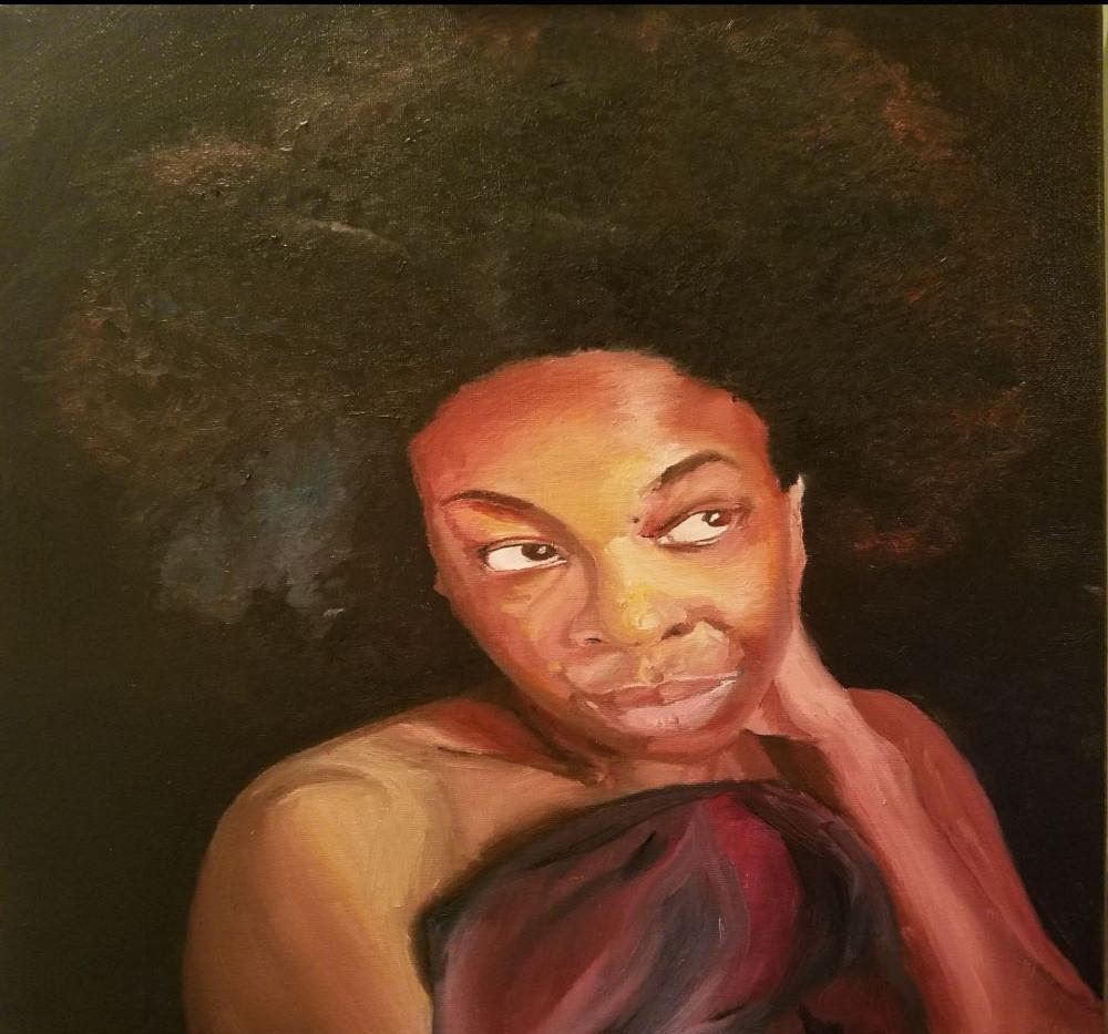 Self Portrait 18x24 Oil on Canvas