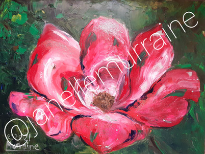 Pink Rose, 18x24 oil on canvas