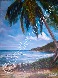 Secret in Paradise, 18x24 oil on canvas